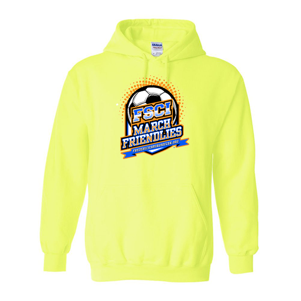 Neon Green Hoodie FCSI March Friendlies
