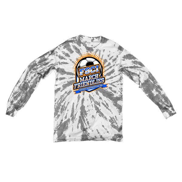 Grey Tie-Dye Long-Sleeve FCSI March Friendlies