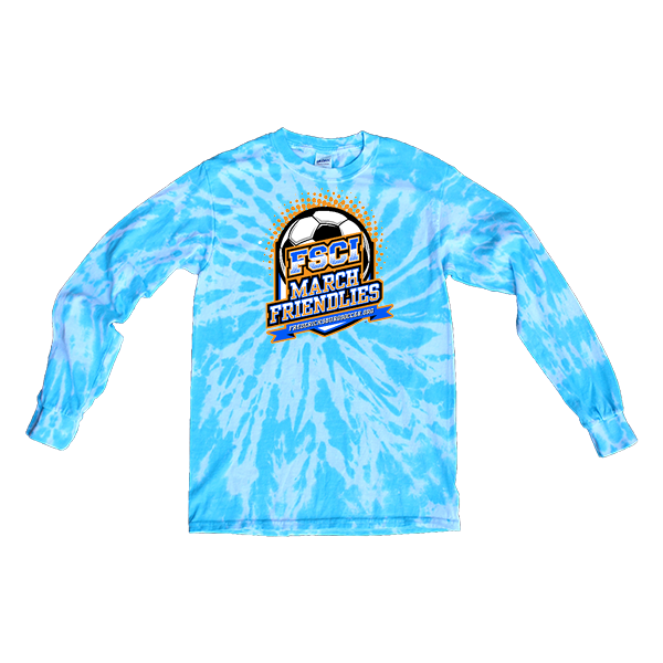 Blue Tie-Dye Long-Sleeve FCSI March Friendlies