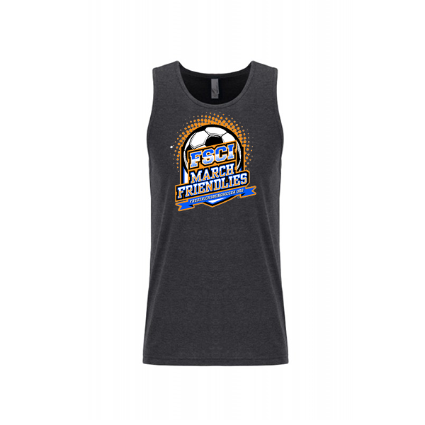 Premium Charcoal Mens Tank FCSI March Friendlies