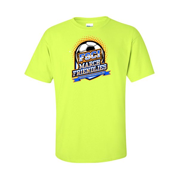 Neon Green T-Shirt FCSI March Friendlies