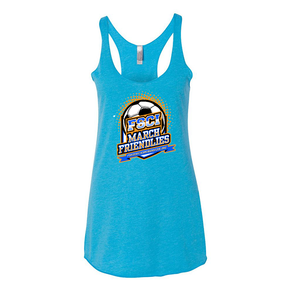 Premium Turquoise Ladies Tank FCSI March Friendlies