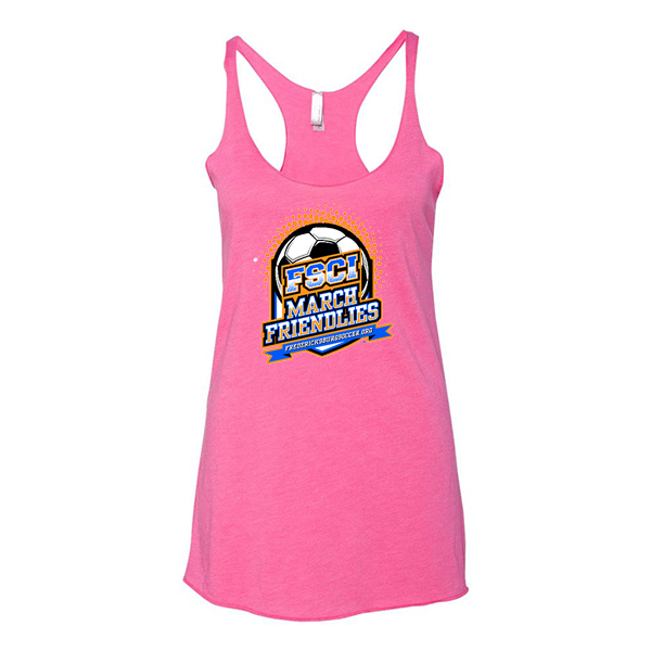 Premium Hot Pink Ladies Tank FCSI March Friendlies
