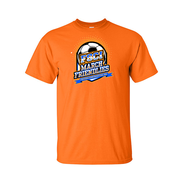Neon Orange T-Shirt FCSI March Friendlies