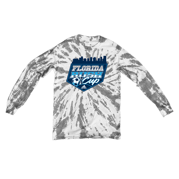 Grey Tie-Dye Long-Sleeve Florida Rush Club