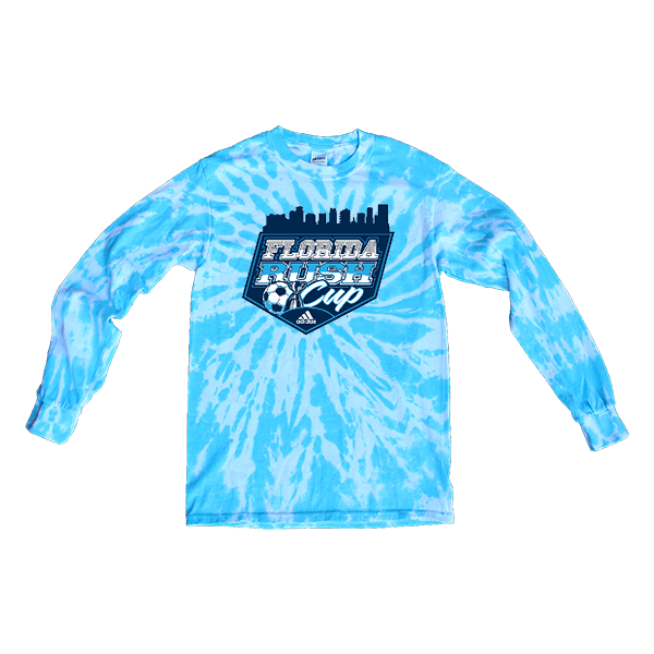 Blue Tie-Dye Long-Sleeve Florida Rush Club