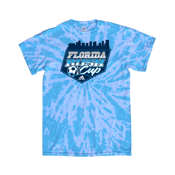 Blue Tie-Dye T-Shirt Florida Rush Club