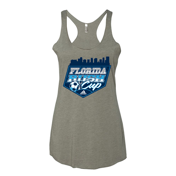Premium Warm Grey Ladies Tank Florida Rush Club