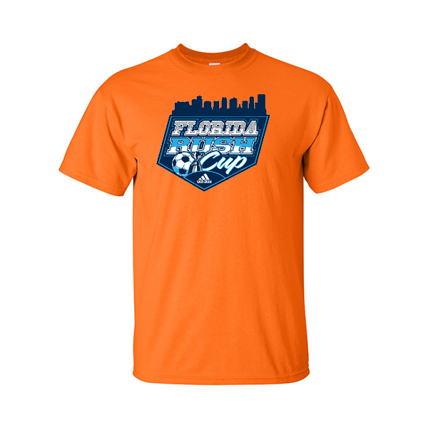 Neon Orange T-Shirt Florida Rush Club