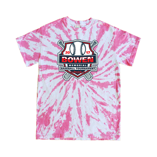 Pink Tie-Dye T-Shirt Bowen Memorial Tournament