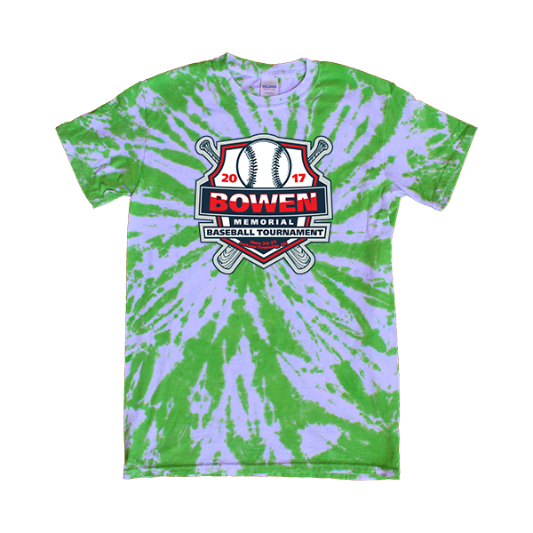 Green Tie-Dye T-Shirt Bowen Memorial Tournament