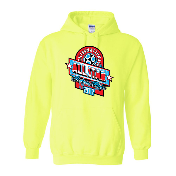 Neon Green Hoodie International All-Star Indoor Boys