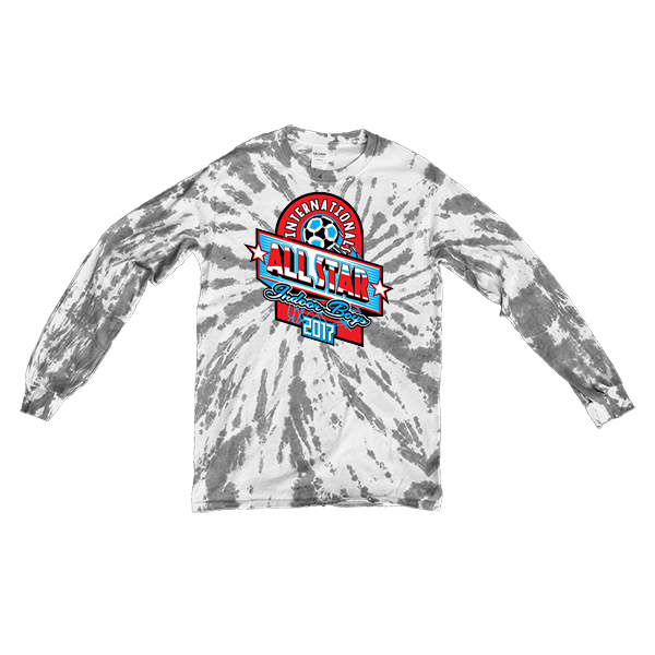 Grey Tie-Dye Long-Sleeve International All-Star Indoor Boys