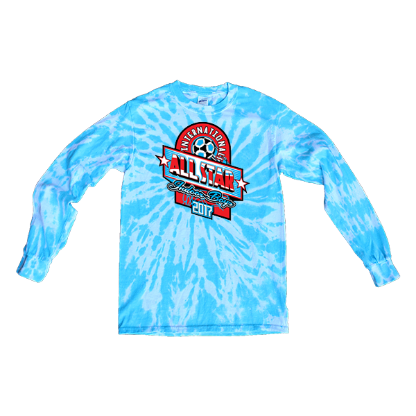 Blue Tie-Dye Long-Sleeve International All-Star Indoor Boys
