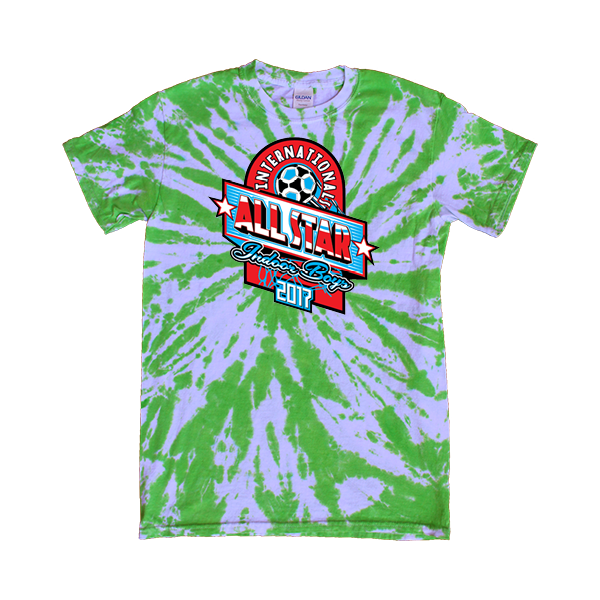 Green Tie-Dye T-Shirt International All-Star Indoor Boys