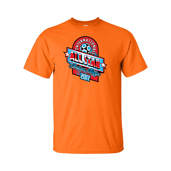 Neon Orange T-Shirt International All-Star Indoor Boys