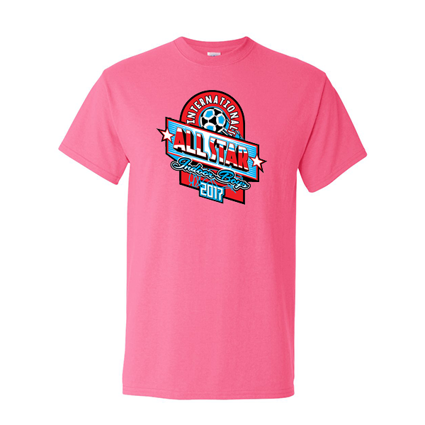 Neon Pink T-Shirt International All-Star Indoor Boys