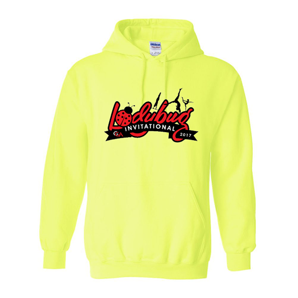 Neon Green Hoodie Lady Bug Invitational