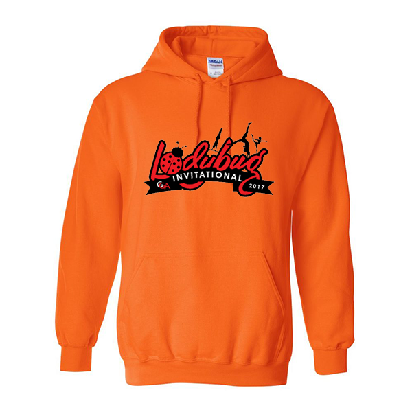 Neon Orange Hoodie Lady Bug Invitational