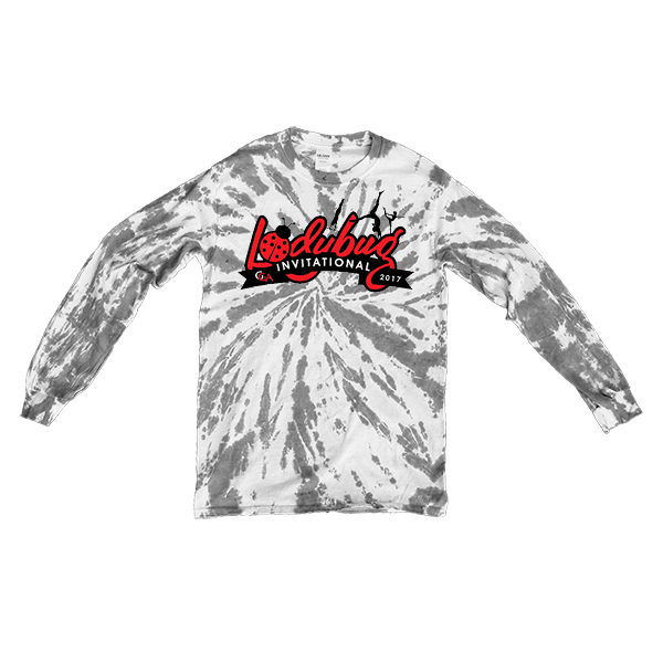 Grey Tie-Dye Long-Sleeve Lady Bug Invitational