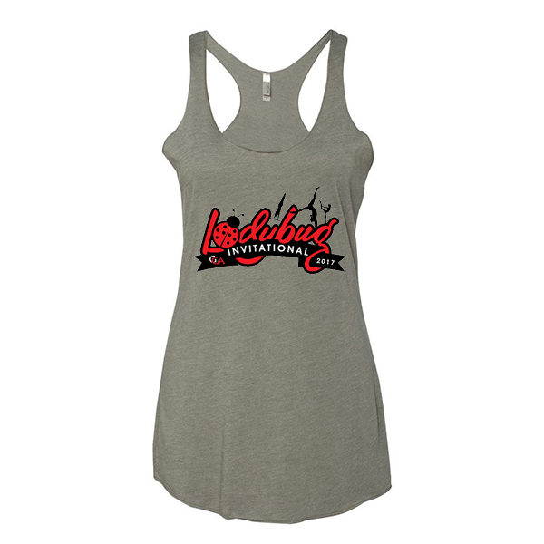 Warm Grey Ladies Tank Lady Bug Invitational