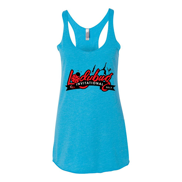 Turquoise Ladies Tank Lady Bug Invitational