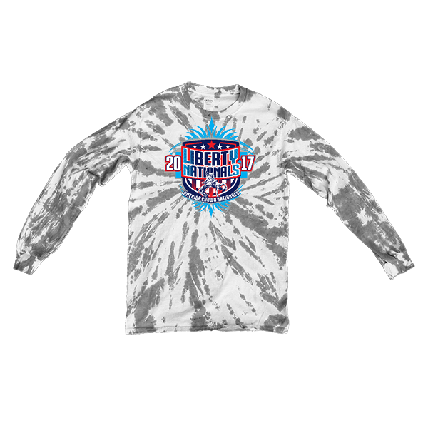 Grey Tie-Dye Long-Sleeve Liberty Nationals