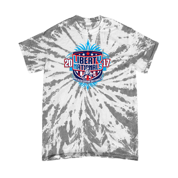 Grey Tie-Dye T-Shirt Liberty Nationals