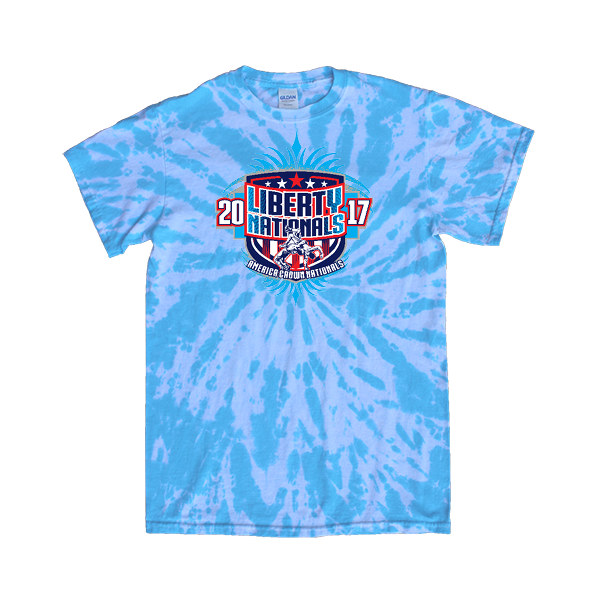 Blue Tie-Dye T-Shirt Liberty Nationals