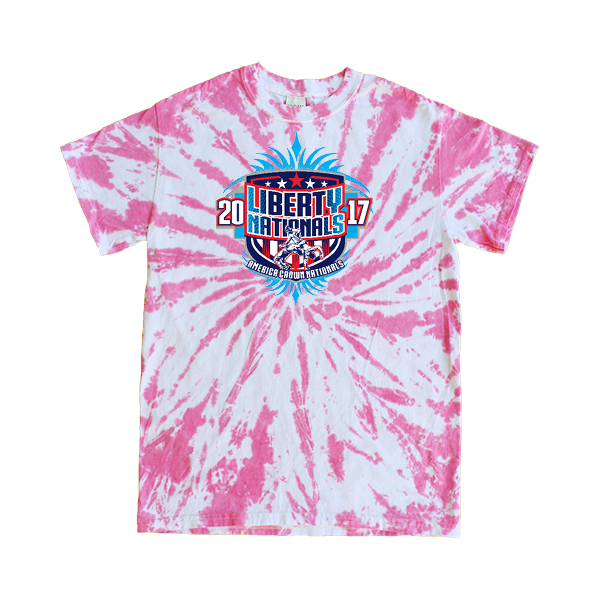 Pink Tie-Dye T-Shirt Liberty Nationals