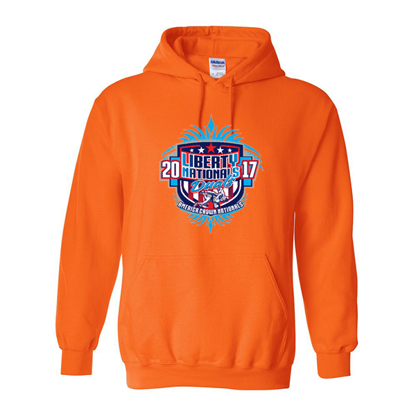 Neon Orange Hoodie Liberty Nationals Duals
