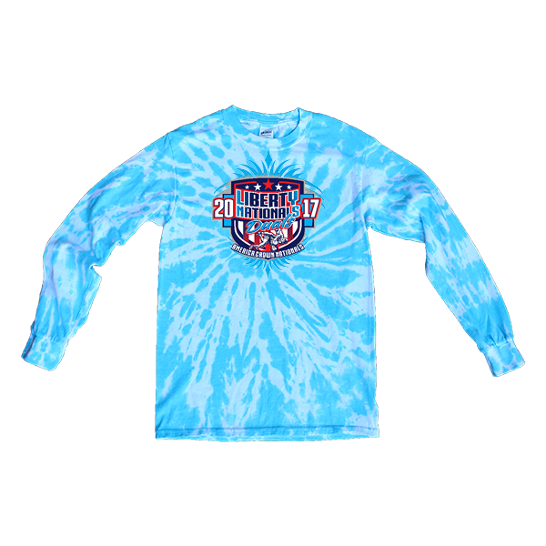 Blue Tie-Dye Long-Sleeve Liberty Nationals Duals
