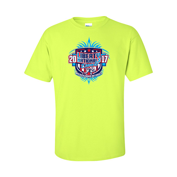 Neon Green T-Shirt Liberty Nationals Duals