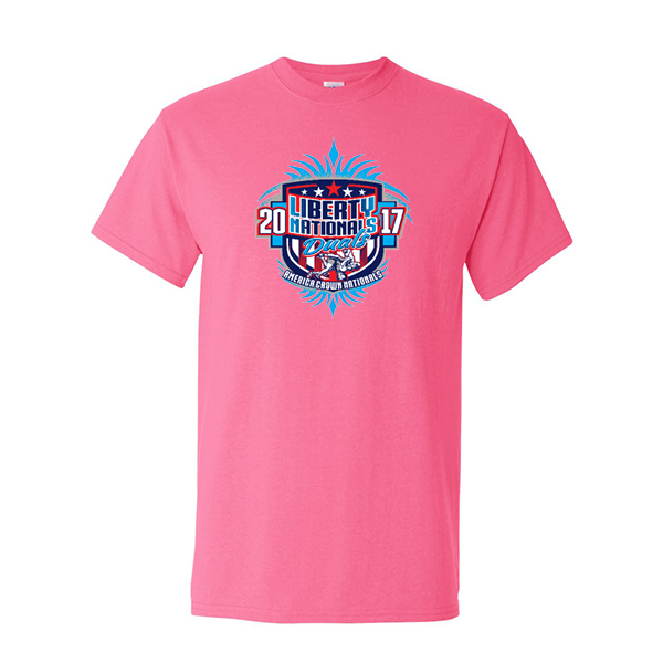 Neon Pink T-Shirt Liberty Nationals Duals