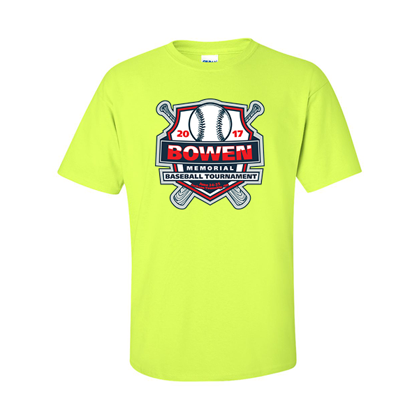 Neon Green T-Shirt Bowen Memorial Tournament