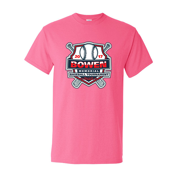 Neon Pink T-Shirt Bowen Memorial Tournament