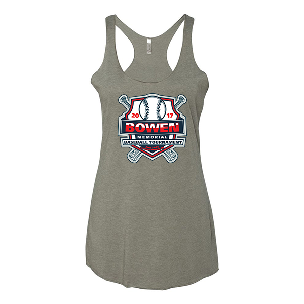 Premium Warm Grey Ladies Tank Bowen Memorial Tournament