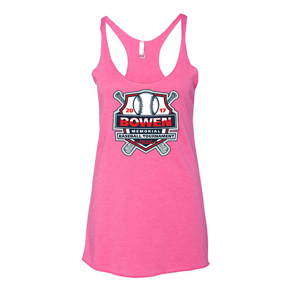 Premium Hot Pink Ladies Tank Bowen Memorial Tournament