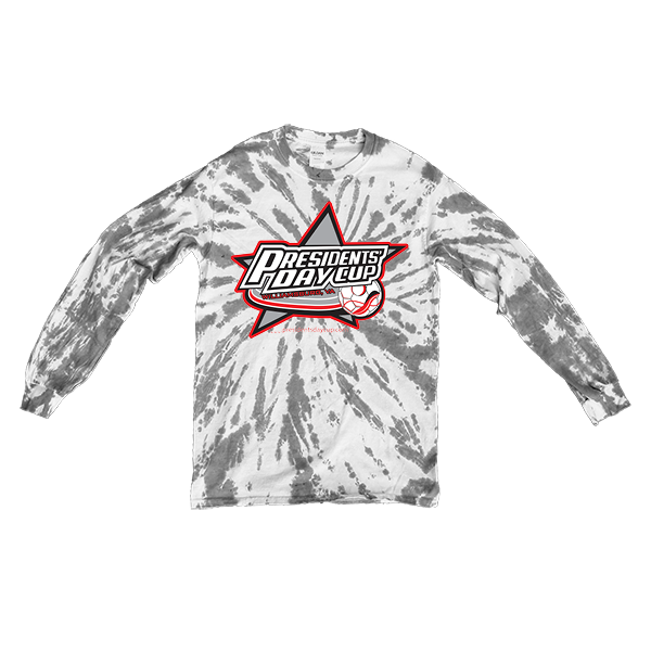 Grey Tie-Dye Long-Sleeve President's Day Cup