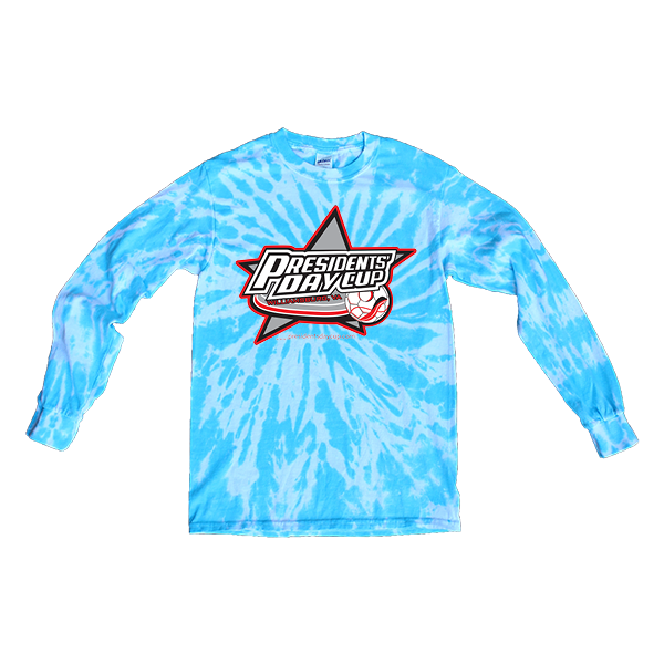 Blue Tie-Dye Long-Sleeve President's Day Cup