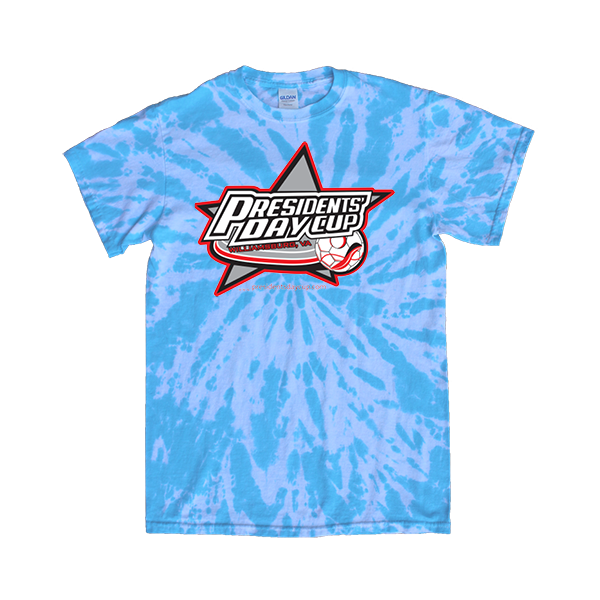 Blue Tie-Dye T-Shirt President's Day Cup