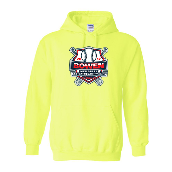 Neon Green Hoodie Bowen Memorial Tournament