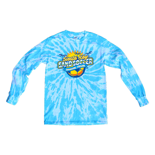 Blue Tie-Dye Long-Sleeve Siesta Key Sand Soccer