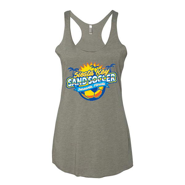 Premium Warm Grey Ladies Tank Siesta Key Sand Soccer