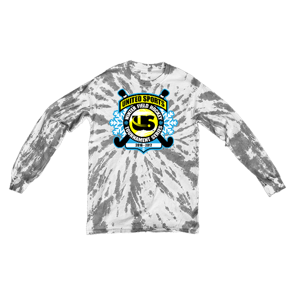 Grey Tie-Dye Long-Sleeve United Sports Field Hockey