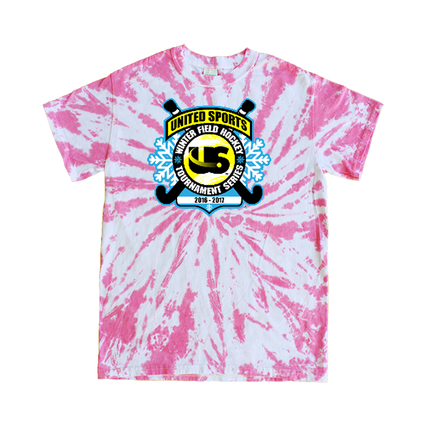 Pink Tie-Dye T-Shirt United Sports Field Hockey