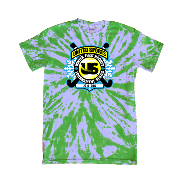 Green Tie-Dye T-Shirt United Sports Field Hockey