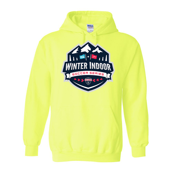 Neon Green Hoodie Winter Indoor Tennessee Soccer Club