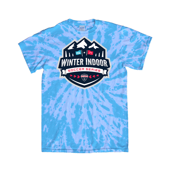 Blue Tie-Dye T-Shirt Winter Indoor Tennessee Soccer Club