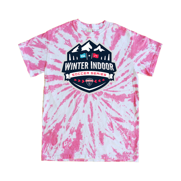 Pink Tie-Dye T-Shirt Winter Indoor Tennessee Soccer Club